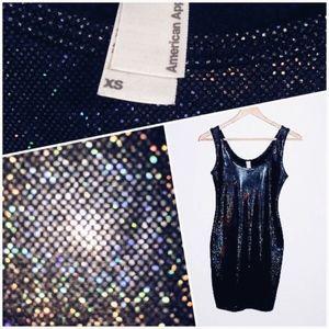 AA Holographic Mini Dress